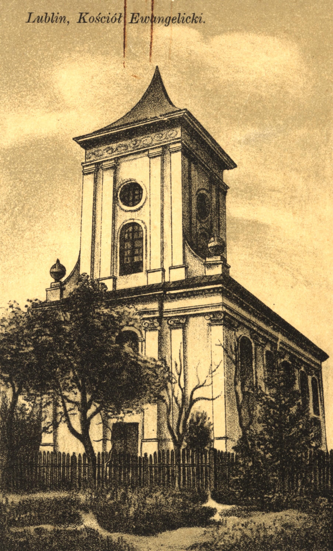 Kościół ewangelicko-augsburski pw. Świętej Trójcy wLublinie, 1912.