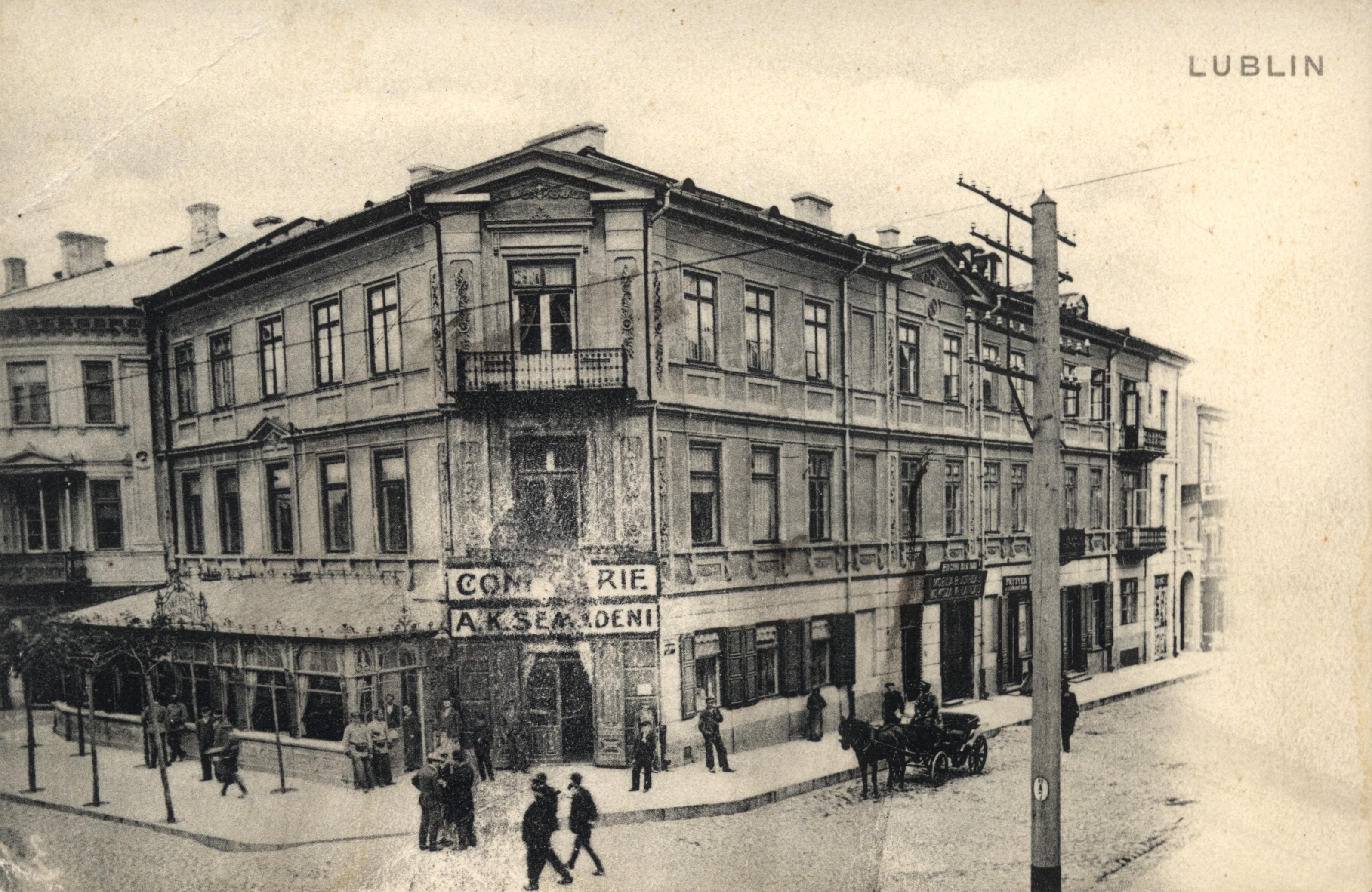 Cukiernia A.K. Semadeni, ul. Krakowskie Przedmieście 27, ok. 1907